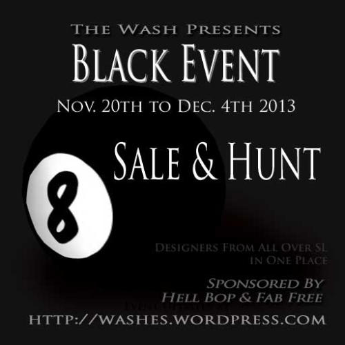 The Black Event at The Wash in Second Life