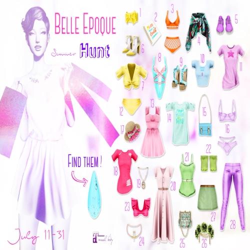 Summer Hunt @ Belle Epoque